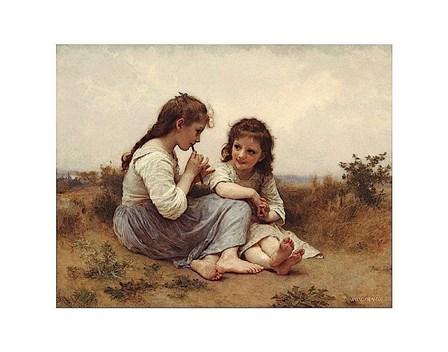 A Childhood Idyll by William Adolphe Bouguereau art print