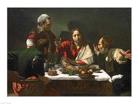 The Supper at Emmaus, 1601 by Caravaggio art print