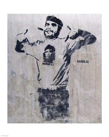 Che and Fidel, Norway by Banksy art print