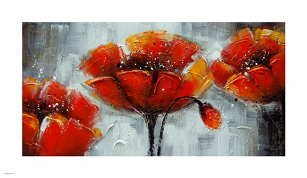 Abstract Poppies art print