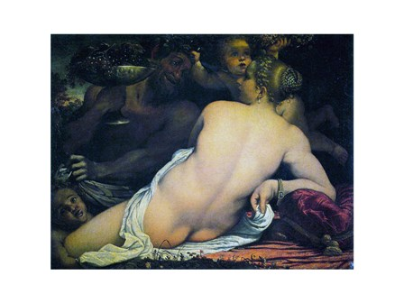 Venus with a Satyr and Cupids art print