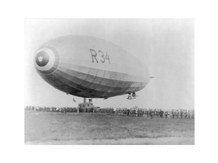 Landing of British Dirigible R-34 at Mineola, Long Island, N.Y. art print