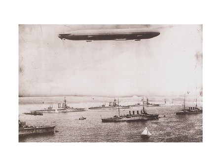 Zeppelin - B&W in the air art print