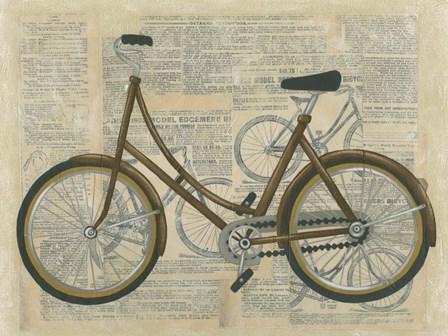 Tour by Bicycle II by Chariklia Zarris art print