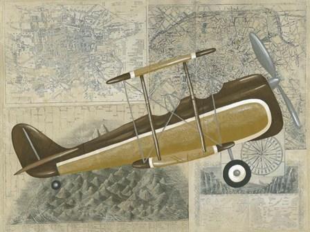Tour by Plane II by Chariklia Zarris art print
