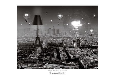 Paris, The City of Lights by Thomas Barbey art print