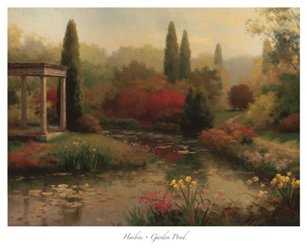 Garden Pond by Haibin art print