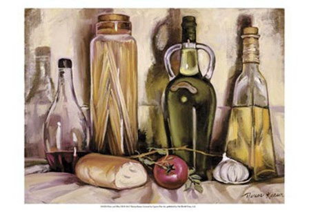 Pasta and Olive Oil by Theresa Kasun art print