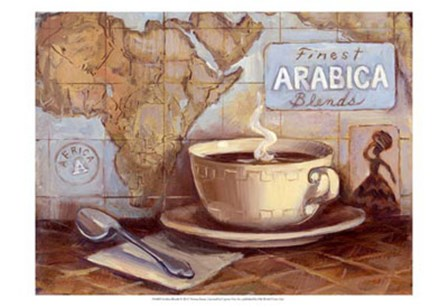 Arabica Blends by Theresa Kasun art print