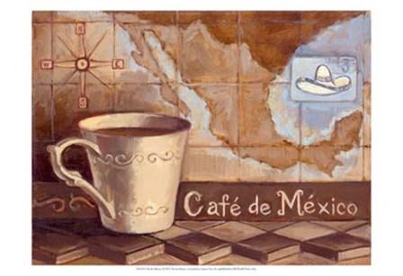 Cafe de Mexico by Theresa Kasun art print