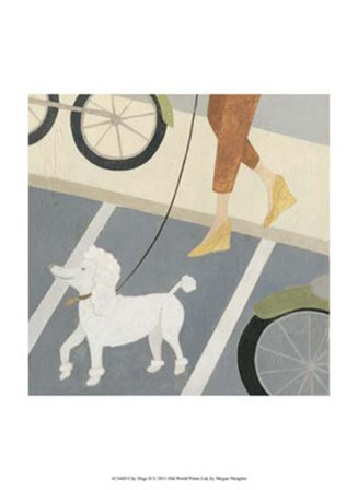 City Dogs II by Megan Meagher art print