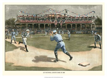National League Game 1886 by Snyder Snyder art print