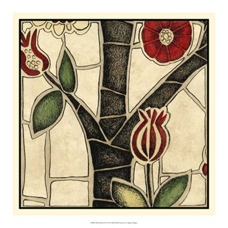 Floral Mosaic III by Megan Meagher art print