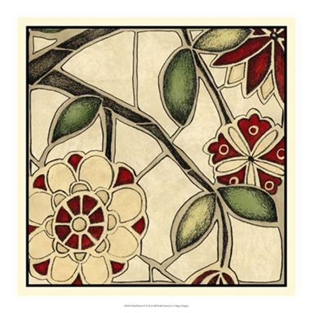 Floral Mosaic IV by Megan Meagher art print