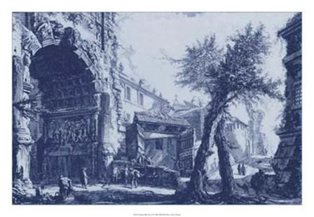 Antique Blue View II by Francesco Piranesi art print