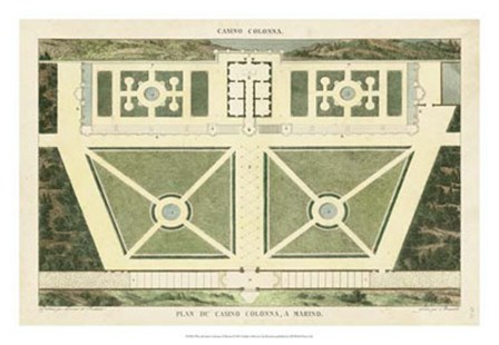 Plan du Casino Colonna, A Marino by Pierre Bonnard art print