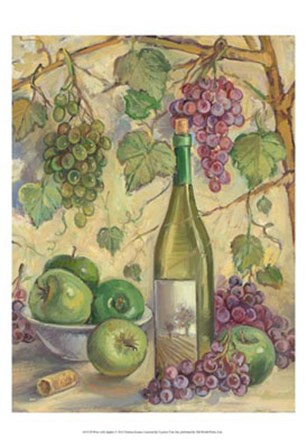 Wine with Apples by Theresa Kasun art print
