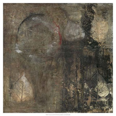 Neutral Leaves II by Elena Ray art print