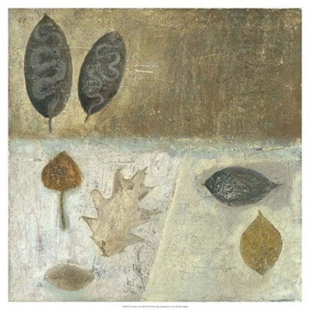 Neutral Leaves III by Elena Ray art print