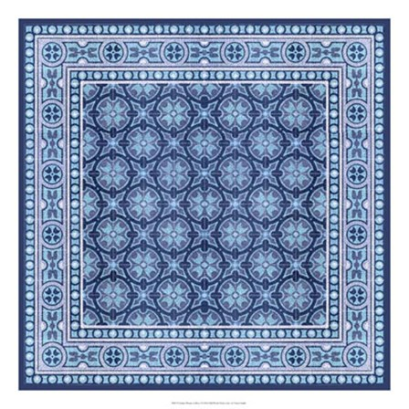 Italian Mosaic in Blue I by Vision Studio art print