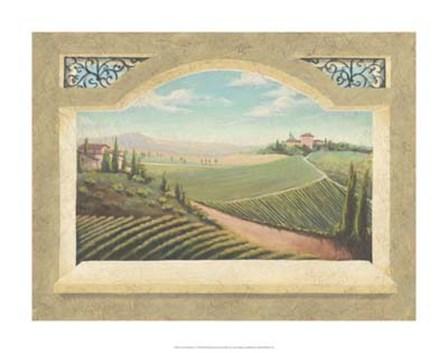 Vineyard Window I by Joelle McIntyre art print