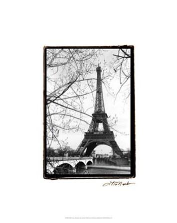 Eiffel Tower Along the Seine River by Laura Denardo art print