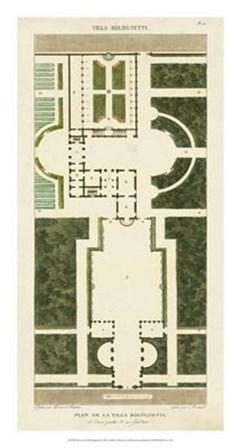 Plan de la Villa Bolognetti by Pierre Bonnard art print