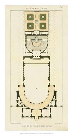 Plan de la Villa di Papa Guilio by Pierre Bonnard art print