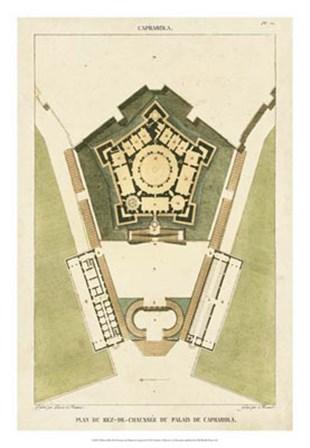 Plan du Rez De Chaussee du Palais by Pierre Bonnard art print