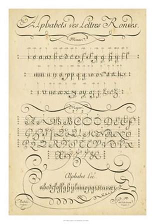 Alphabet Sampler I by Denis Diderot art print