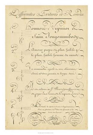 Alphabet Sampler III by Denis Diderot art print