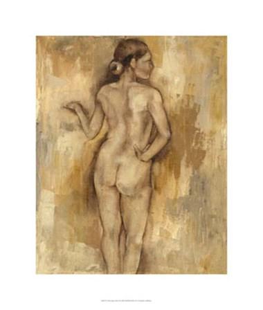 Nude Figure Study II by Jennifer Goldberger art print