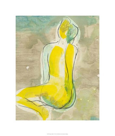 Figure in Relief II by Jennifer Goldberger art print