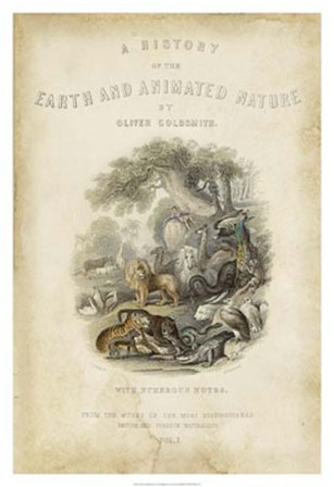 Earth & Animated Nature by J. Stewart art print