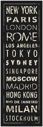 Transit World Cities I Black by IHD Studio art print