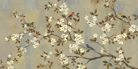 Conversation (Birds, Blossoms and Branches) by Asia Jensen art print