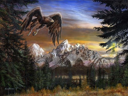 Soaring Eagle by Kevin Daniel art print