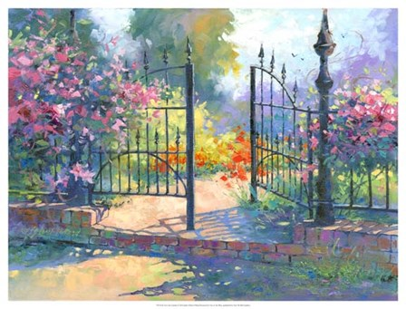 Into the Garden by Julie G Pollard art print