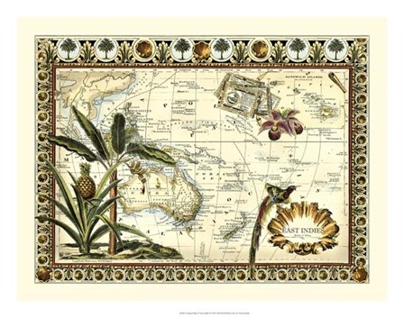 Tropical Map of East Indies by Vision Studio art print