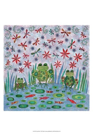 Frog Pond by Kim Conway art print