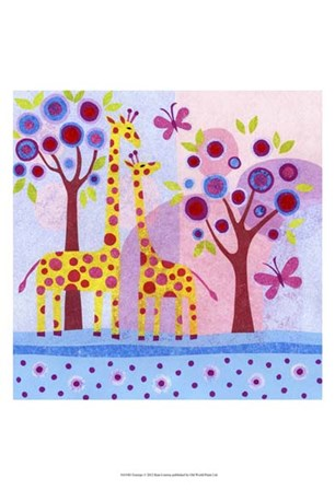 Tree tops by Kim Conway art print