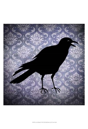 Crow & Damask by Vision Studio art print