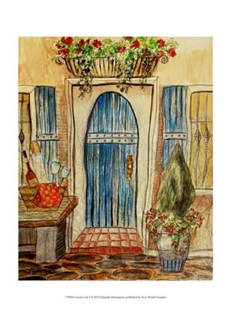 Greek Cafe I by Danielle Harrington art print