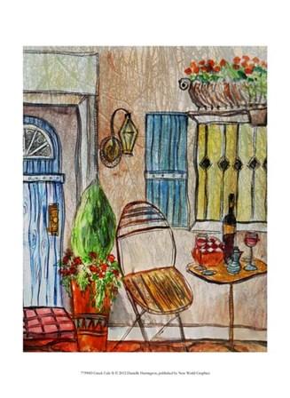 Greek Cafe II by Danielle Harrington art print