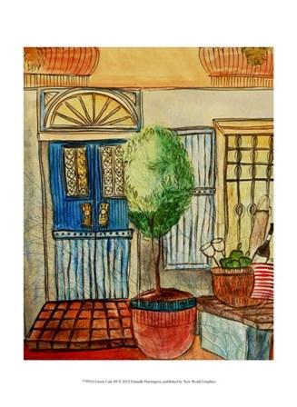 Greek Cafe III by Danielle Harrington art print