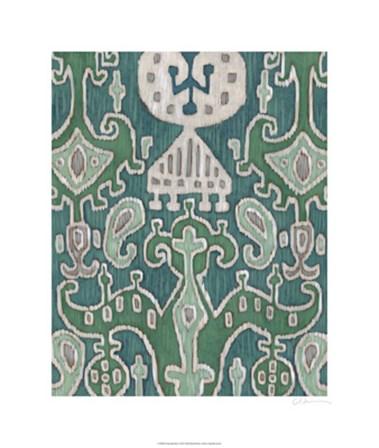 Emerald Ikat I by Chariklia Zarris art print