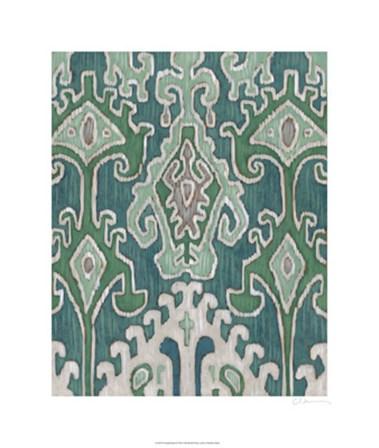 Emerald Ikat II by Chariklia Zarris art print