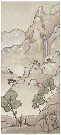 Non-Embellished Chinoiserie Landscape I by Chariklia Zarris art print