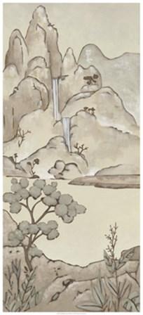 Non-Embellished Chinoiserie Landscape II by Chariklia Zarris art print