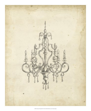 Classical Chandelier III by Ethan Harper art print